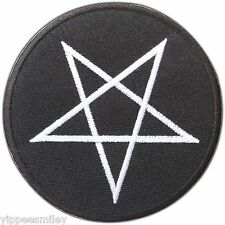 Pentagram Satanic 666 Pentacle Occult Goth Daemon Wicca Devil Iron-On Patch 0530