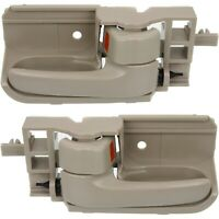 Door Handle Set For 2003-2008 Toyota Corolla Beige Plastic 2-Pcs