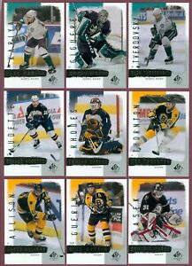 2000-01 UPPER DECK SP AUTHENTIC NHL HOCKEY CARD 1 TO 90 SEE LIST