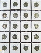 20x 2001-S Proof Rhode Island The Ocean State Quarters Clad Coins Half Roll RI !