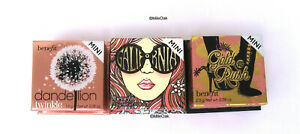 Benefit Mini Blush Dandelion Twinkle/California/Gold Rush/Hoola Lite/Hoola New