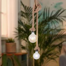 Retro Pendel Decken Lampe Tau Seil Vintage Küchen Strahler Flur Hänge Leuchte