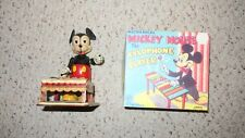 VINTAGE MARX LINEMAR WIND UP MICKEY MOUSE XYLOPHONE WORKS WITH REPRO BOX
