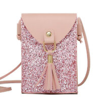 Women Leather Small Crossbody Bag Cell Phone Purse Wallet  Shoulder Bag Handbag