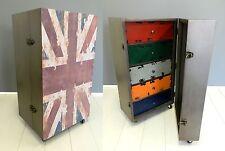 Mobile legno  Union Jack baule con cassetti bandiera inglese