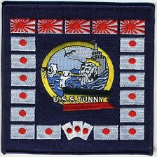 USS Tunny SS 282 - WWII Battleflag BC Patch Cat No C5878