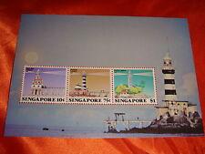 1982 Lighthouses of Singapore Miniature Sheet, M/S MNH