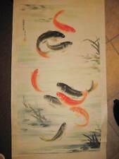 Chinese Scroll Painting Art Writing original signed by Zhou Sheng Da 周升达 on 1996