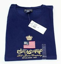 Ladies Ralph Lauren Polo Jeans Dark Blue T-Shirt Junior 100% Cotton Size L