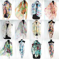 wholesale lot 10pc boho floral rose vintage print maxi scarves sarong fashion