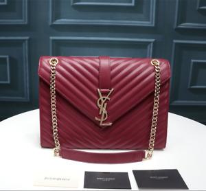 Saint Laurent Loulou Small Matelasse YSL Leather Shoulder Bag Women's