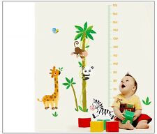 Asmi Collection Pvc Wall Stickers Height Tree Giraffe Monkey For Kids Room