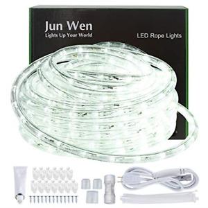 JUNWEN Outdoor LED Rope Lights Indoor 432 LEDs Waterproof 39ft/12m Daylight W...