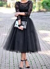 Black 3/4 Sleeve Short Prom Dresss Lace/Tulle Cocktail Prom Formal Evening Gown