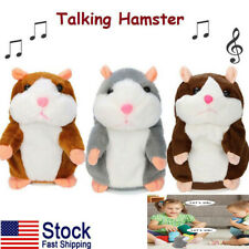 Talking Hamster Electronic Plush Toy Mouse Pet Sound Soft Cute Kid Children Gift