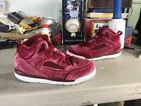 Nike AIR JORDAN SPIZIKE Velvet Red Youth Girl's Shoes - CJ7217-600 - Sz 2Y (PS)