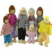 Familie aus Holz Sweetbee People Puppenhaus Figuren flexible Puppen Geschenke