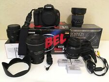 Canon Rebel T3i 600D Bundle with 50mm Rokinon Fisheye Tokina AT-X PRO 11-16 F2.8