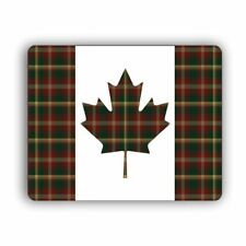 Canada Canadian Flag With Maple Leaf Tartan Computer Mouse Mat Pad Mousepad