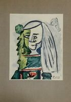 Hand signed Picasso 1959 Maids of Honor art Chagall Matisse Dali contemporary