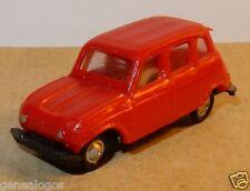 MICRO EKO HO 1/86 1/87 MADE IN SPAIN 1960 RENAULT 4 R4 4L rouge clair