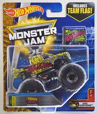 2017 Hot Wheels Monster Jam: FIRESTORM - Chrome Truck - w/ Team Flag Series  NEW