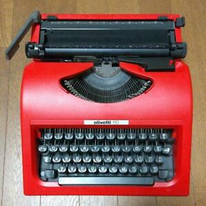 Olivetti Valentine Typewriter 110 Red Vintage Recommended for parts
