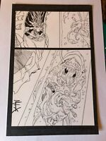 POWDER BURN #1 original art SCI FI 1999 SIGNED creature monster SPLASH signed