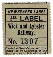 (I.B) Wick & Lybster Railway : Newspaper Parcel ½d