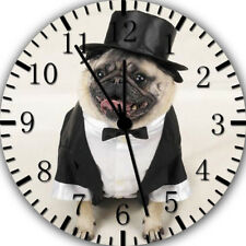 Cute Funny Pug Frameless Borderless Wall Clock For Gifts or Home Decor E461