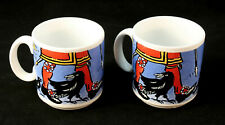 2x TOWER OF LONDON Souvenir Coffee Mugs Tea Cups Picturemaps England Peter Smith