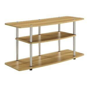 Convenience Concepts Designs2Go 3 Tier Wide TV Stand, Light Oak - 131031LO
