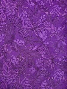 Boundless Rainforest Purple Cotton Fabric 3 Yard Package