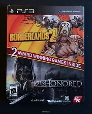 Borderlands 2 and Dishonored Sony Playstation 3 PS3 NEW 2 Games