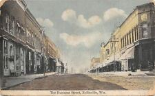 Neillsville Wisconsin~The Business Street~E Bruley~Shoes~Dentist~Dirt Road~1910
