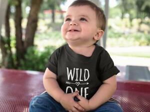 Wild One Kids Tshirt 1st Birthday Childs Age Gift Party Children One Year Old