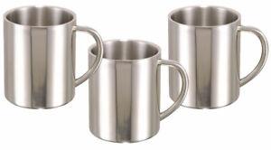 3-er  Edelstahl Kaffeebecher Iso-Becher 0,28 iso Tasse Thermobecher Isoliertasse