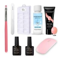 Poly Gel Varnish Nail Polish Set With Lamp  Quick Building Polygel Kit Gel