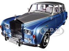 ROLLS ROYCE PHANTOM VI BLUE & SILVER 1/18 DIECAST MODEL CAR BY KYOSHO 08905 LBS