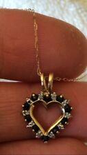Safire and diamond pendant