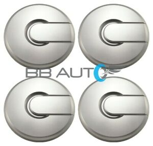 """NEW 2003-2009 HUMMER H2 H-2 17"""" WHEEL HUB CENTER CAPS SILVER SET of 4 COVERS"""