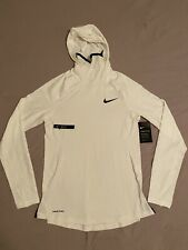 Nike Pro Therma Long Sleeve Training Hoodie/Top Bv5663-100 White (Men'S Small) S