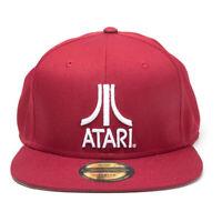 ATARI Classic Logo Snapback Baseball Cap, Unisex, Red/Grey