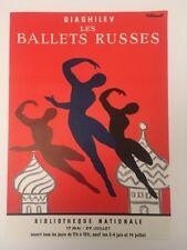 VILLEMOT Diaghilev Les ballets russes 1973 AFFICHE ORIGINALE