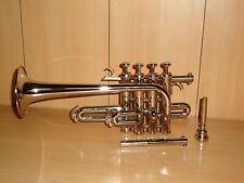 ROCKING OFFER! NEW SILVER-NICKEL PLATED Bb/A FLAT PICCOLO TRUMPET+FREE CASE+M/P