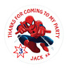 48 Personalised Party Bag Stickers Spiderman Sweet Bag Seals 40mm Labels