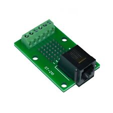 RJ11 / RJ12 / 6P6C Breakout Board to Screw Terminals and Proto Area, ST-210