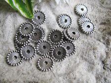 20 Spacer in silber, 11 mm, Zwischenperle, Metallperle, Rondell, Perlen basteln