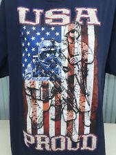 USA Proud Stars Stripes Military Patriotic XXL Flag T-Shirt