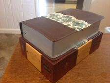 NEW! HCSB Study Bible, Espresso/Teal Leather-Touch RTL $59.99 Personal Size